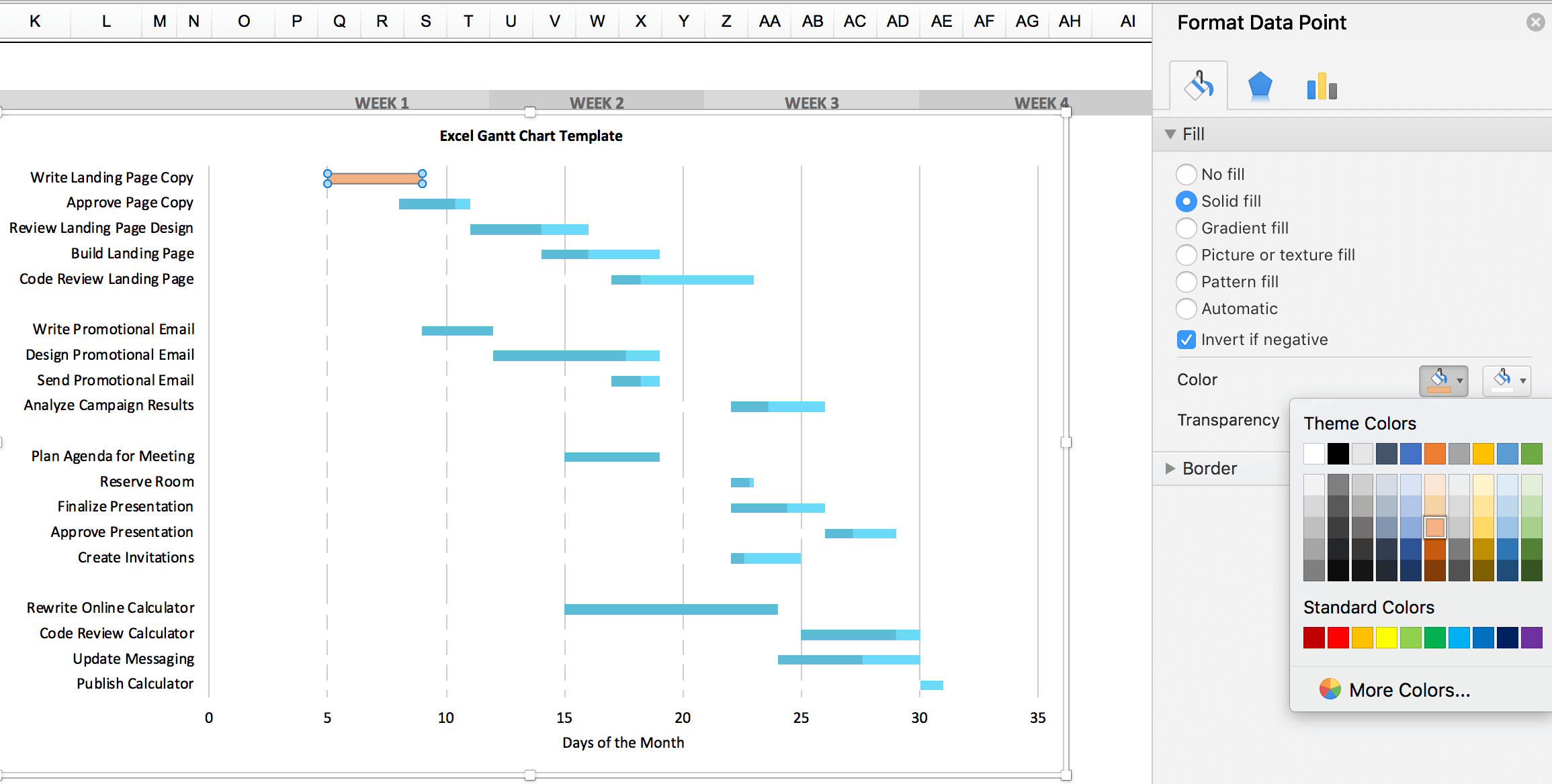 Free Gantt Chart Excel Template: Download Now | Teamgantt With Excel Spreadsheet Gantt Chart Template