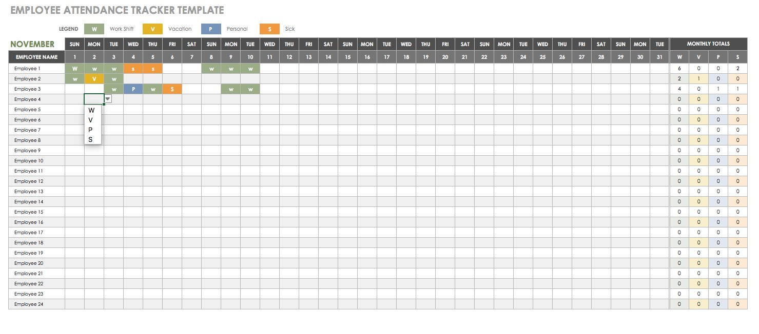 Free Human Resources Templates In Excel In Leave Tracking Spreadsheet