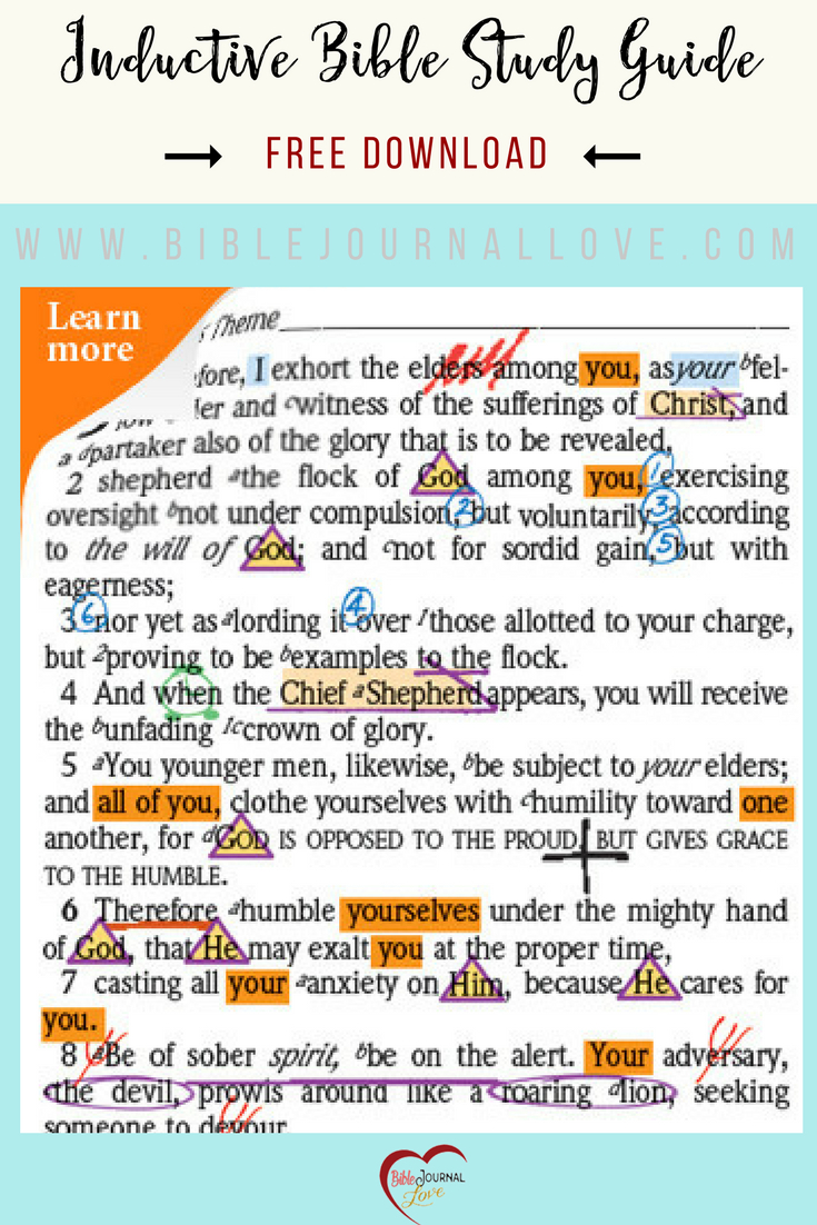 Free Inductive Bible Study Guide – Bible Journal Love Together With Inductive Bible Study Worksheet