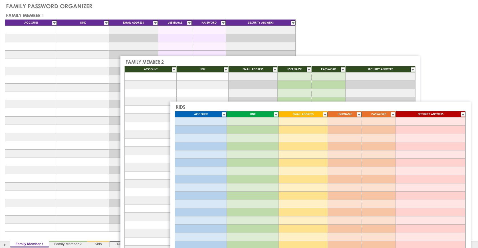 Free Password Templates And Spreadsheets | Smartsheet Throughout Password Spreadsheet Template