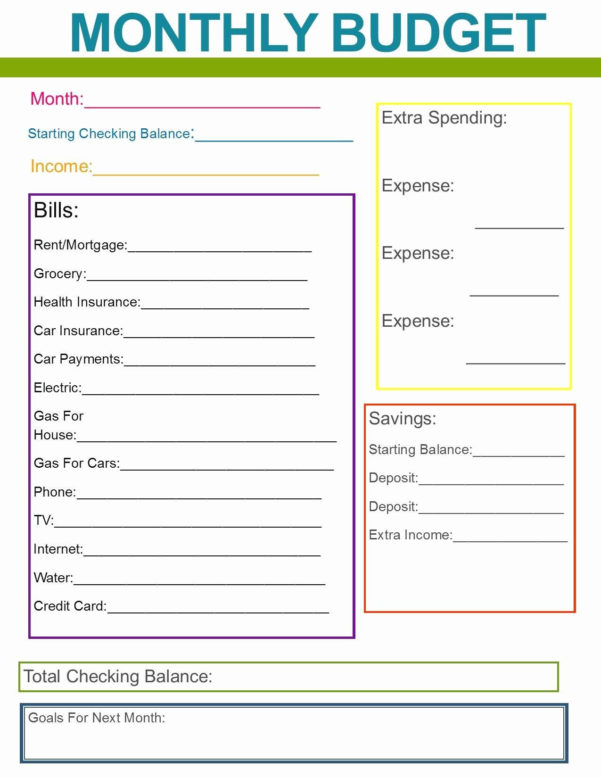 personal monthly budget planner excel spreadshee personal monthly budget planner excel  personal