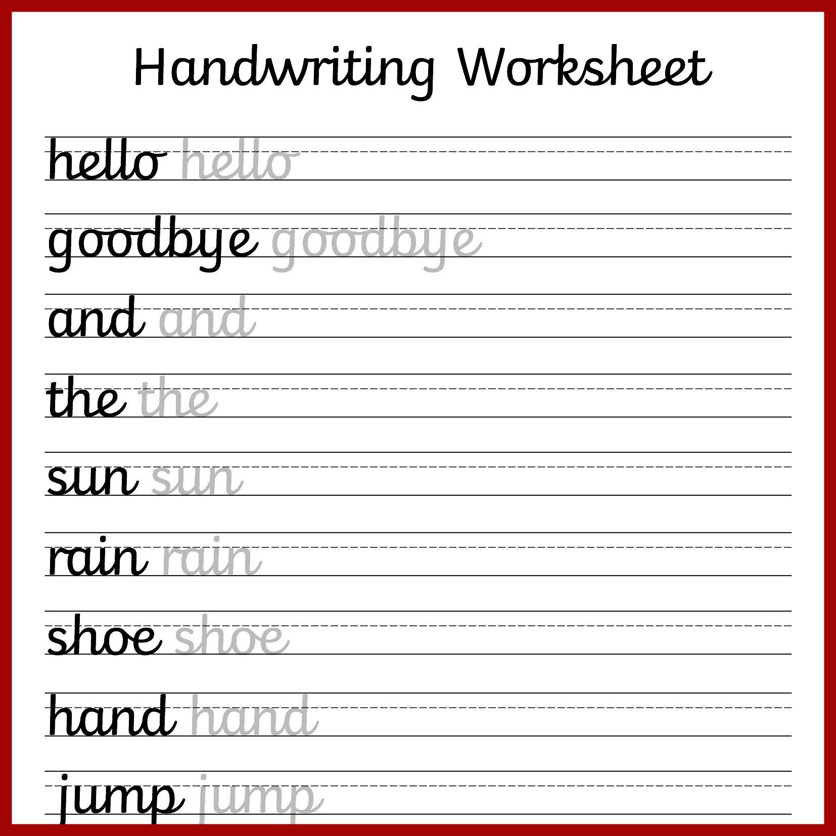 Free Printable Cursive Worksheets – Printabletemplates For 3Rd Grade Handwriting Worksheets
