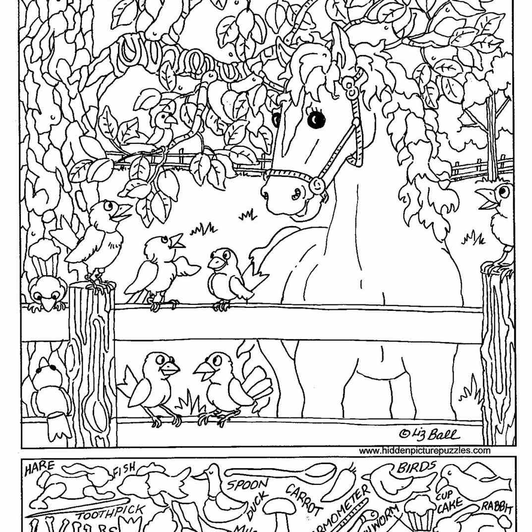 Free Printable Hidden Picture Puzzles For Kids Inside Hidden Objects Worksheets