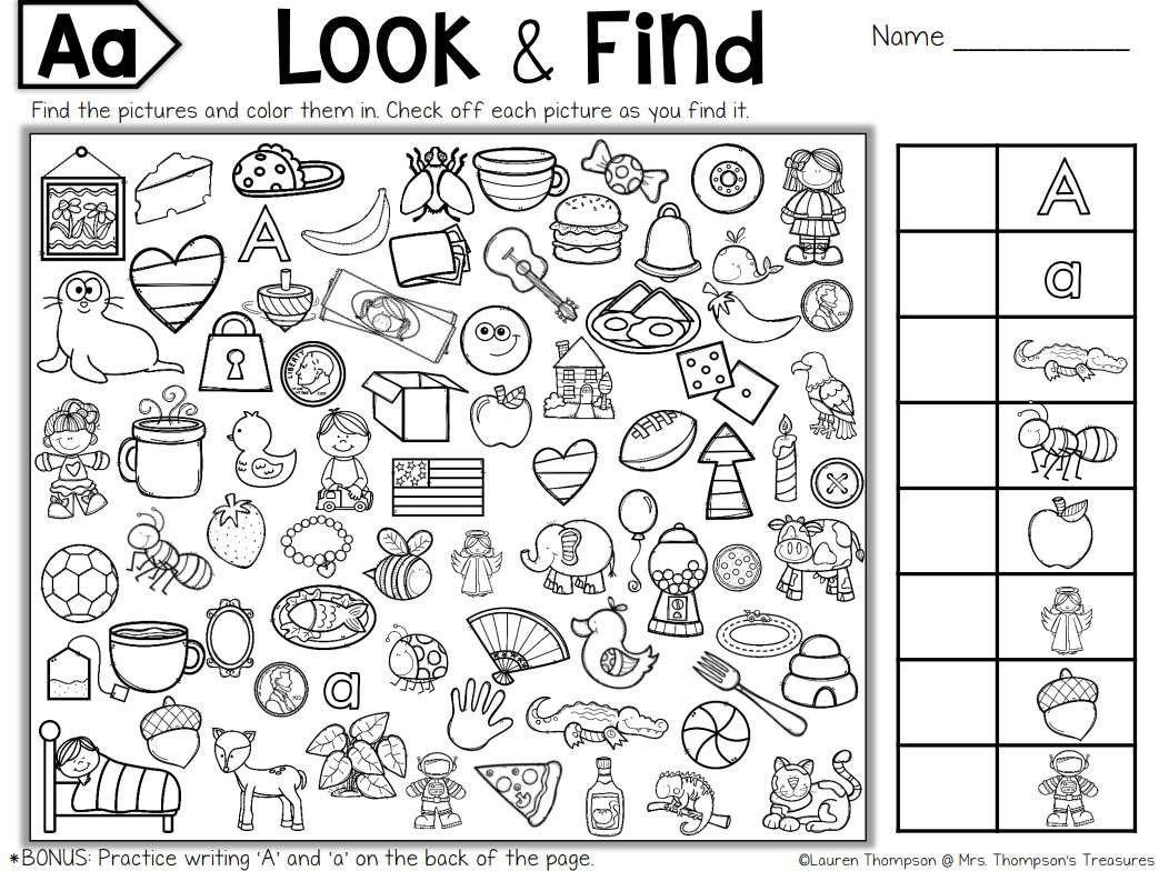 Free Printable Hidden Picture Puzzles For Kids Throughout Hidden Objects Worksheets