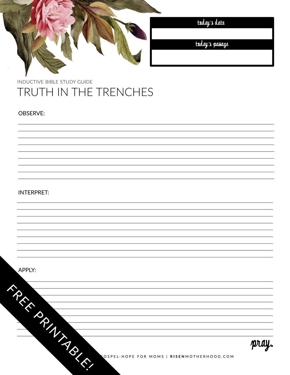 Free Printable Inductive Bible Study Worksheets  Companion Card For Free Printable Bible Study Worksheets