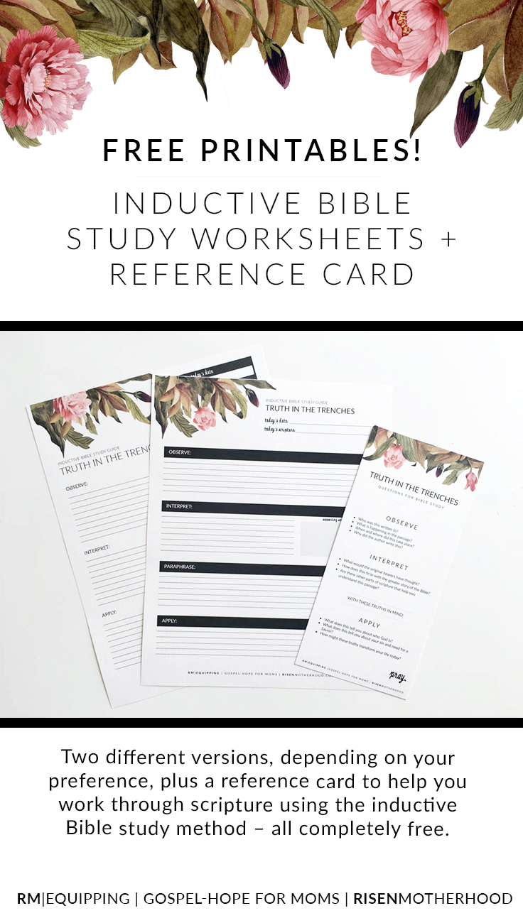 Free Printable Inductive Bible Study Worksheets  Companion Card Intended For Free Inductive Bible Study Worksheets