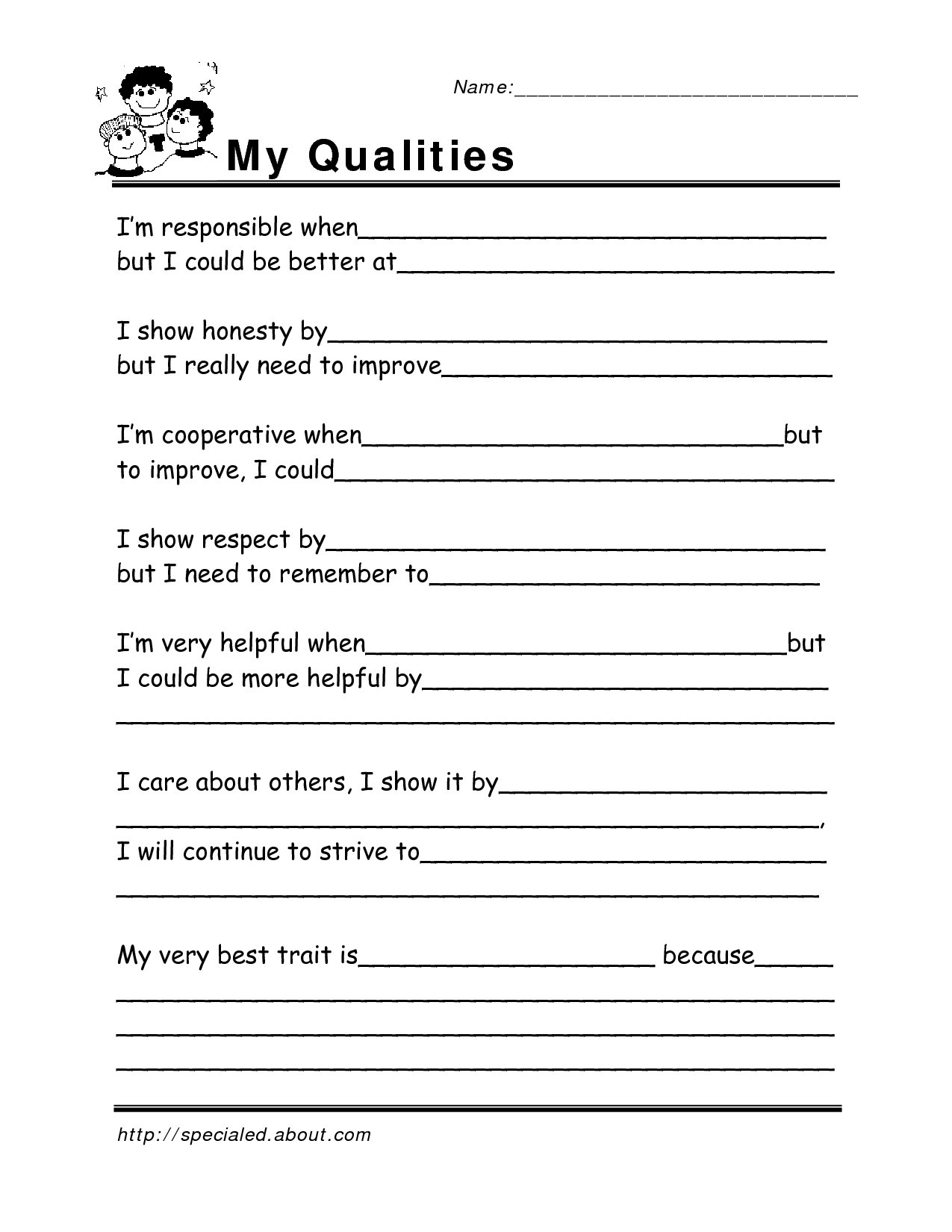 Free Printable Life Skills Worksheets 69 Images In Collection Page 1 Pertaining To Free Life Skills Worksheets