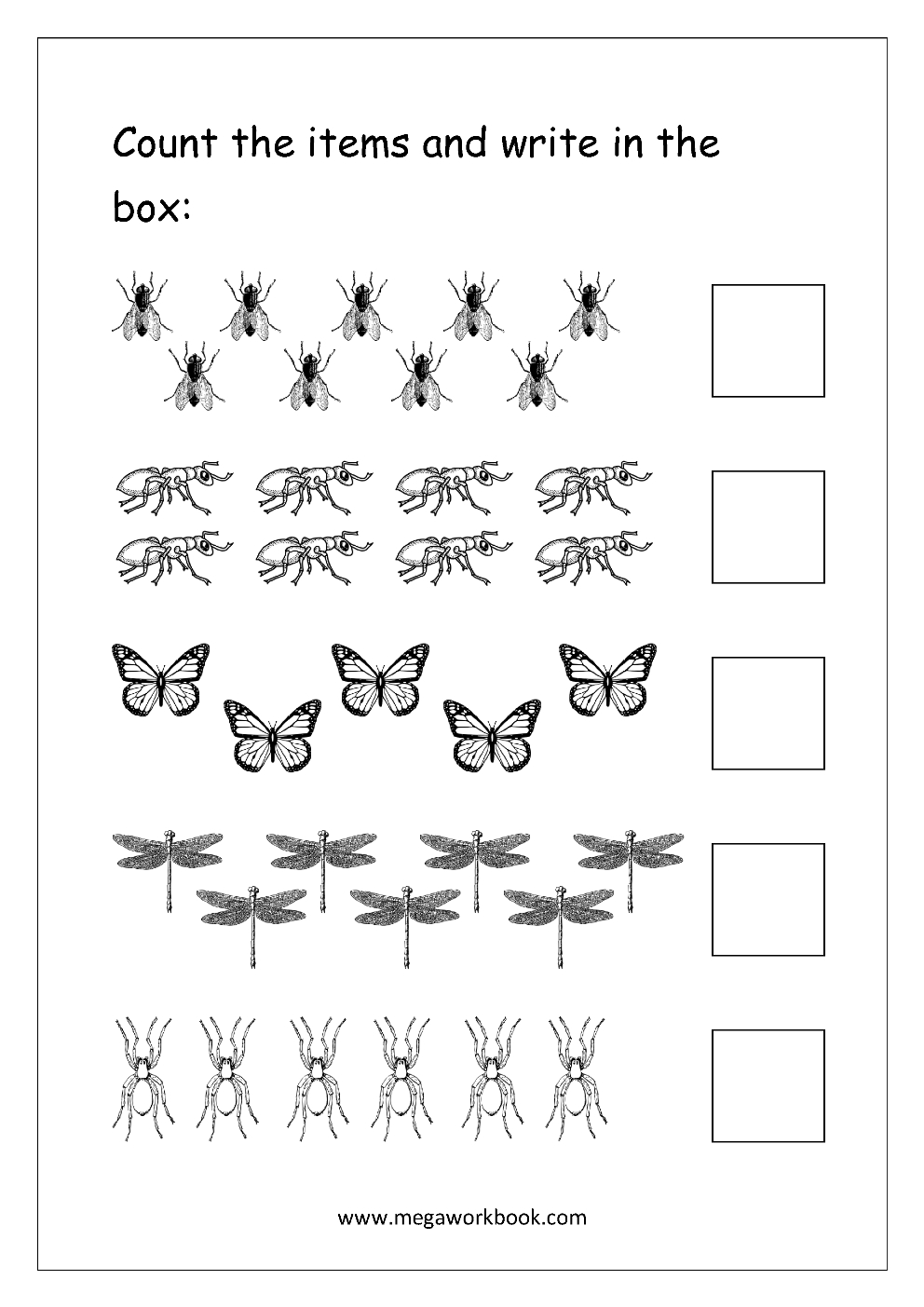 Free Printable Number Counting Worksheets  Count And Match  Count Or Numbers 1 10 Worksheets