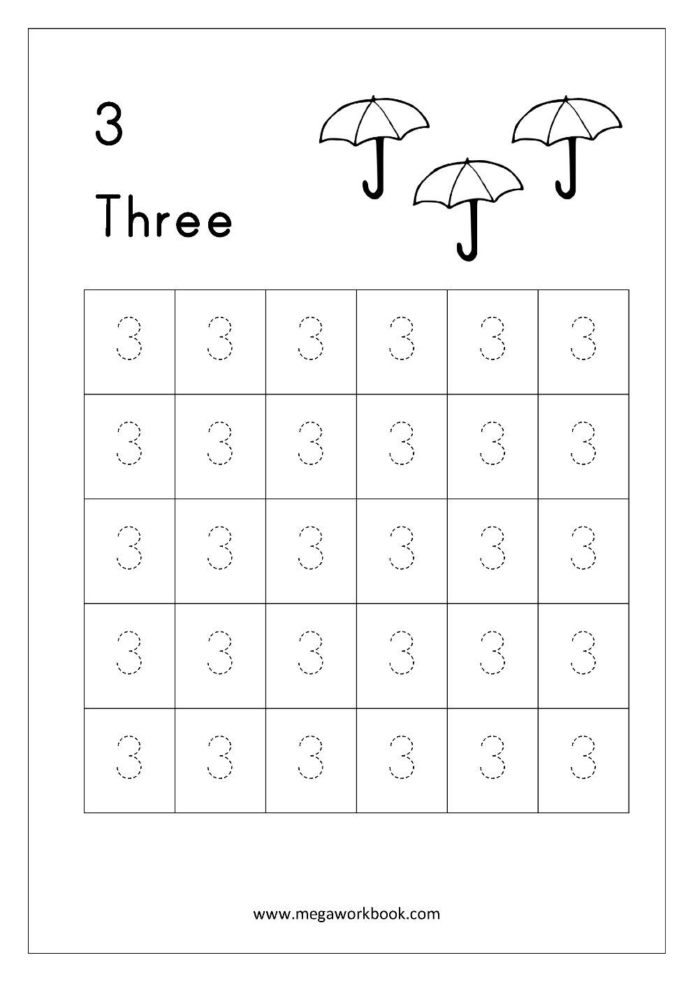 Free Printable Number Tracing And Writing 110 Worksheets  Number Or Number Handwriting Worksheets