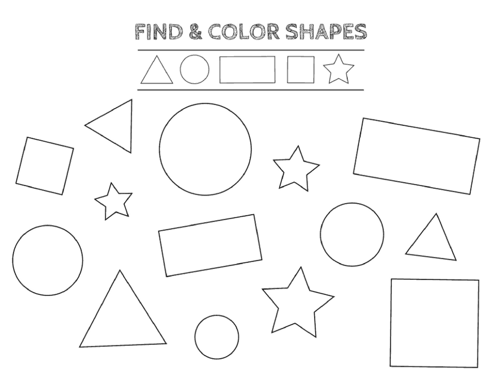 Free Printable Shapes Worksheets For Toddlers And Preschoolers Within Free Worksheets For Preschoolers Printables