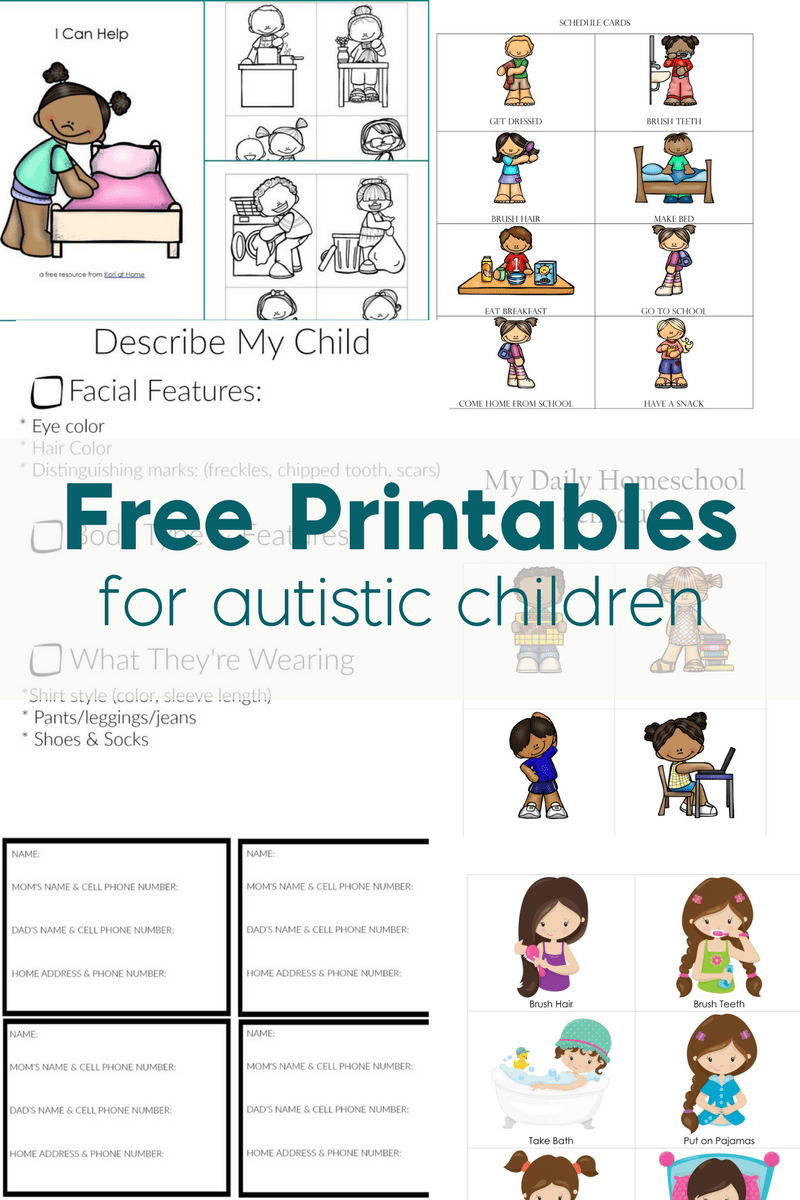Free Printables For Autistic Children And Their Families Or Caregivers Within Social Skills Worksheets For Autism