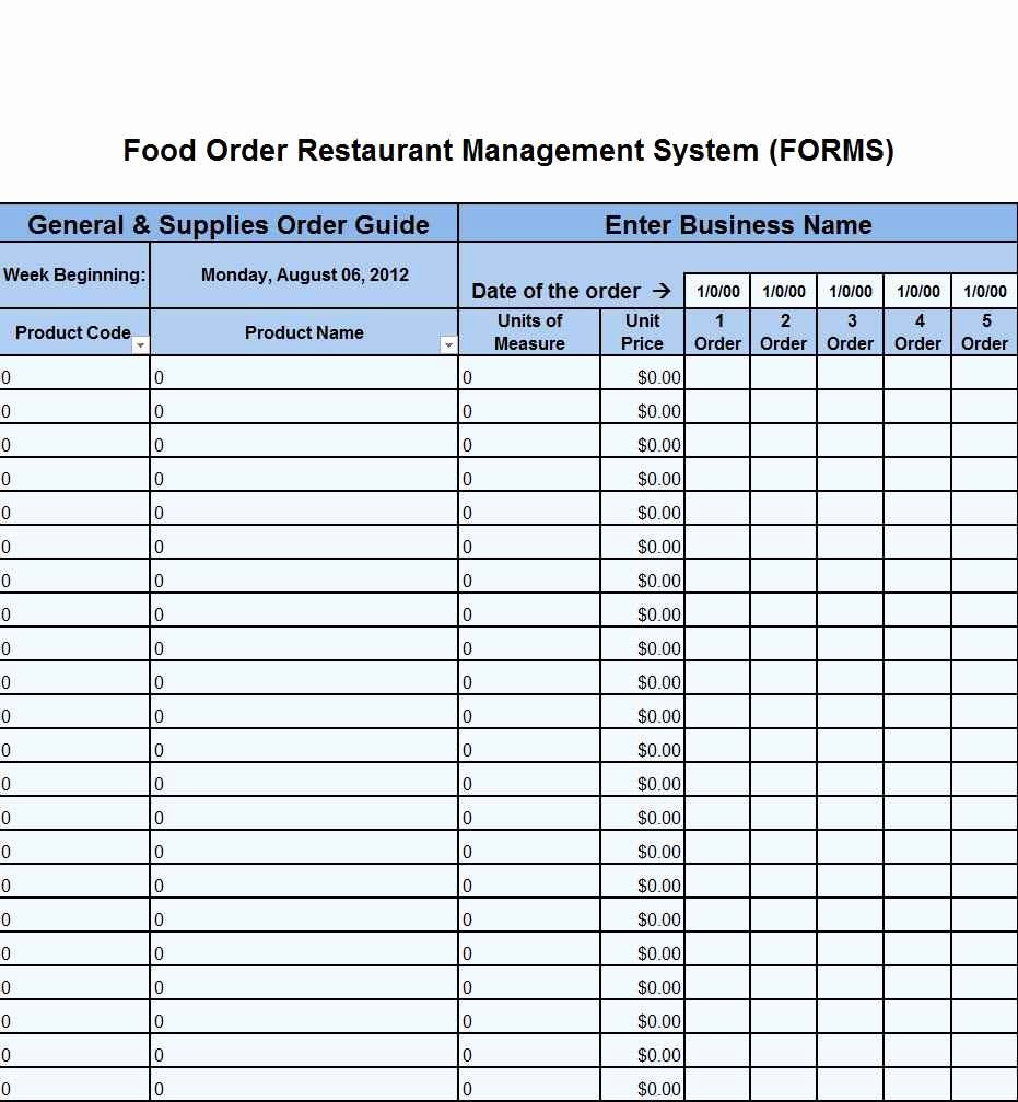 Free Restaurant Inventory Spreadsheet – Ptcharacterprofiles.website Inside Restaurant Inventory Spreadsheet Template