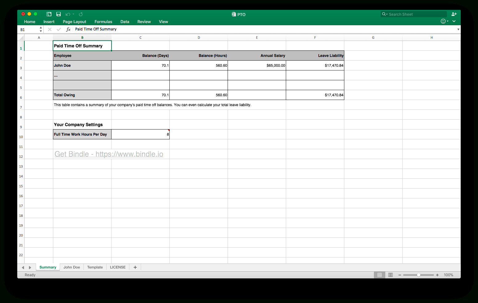 Free Time Off Tracker - Bindle In Paid Time Off Tracking Spreadsheet