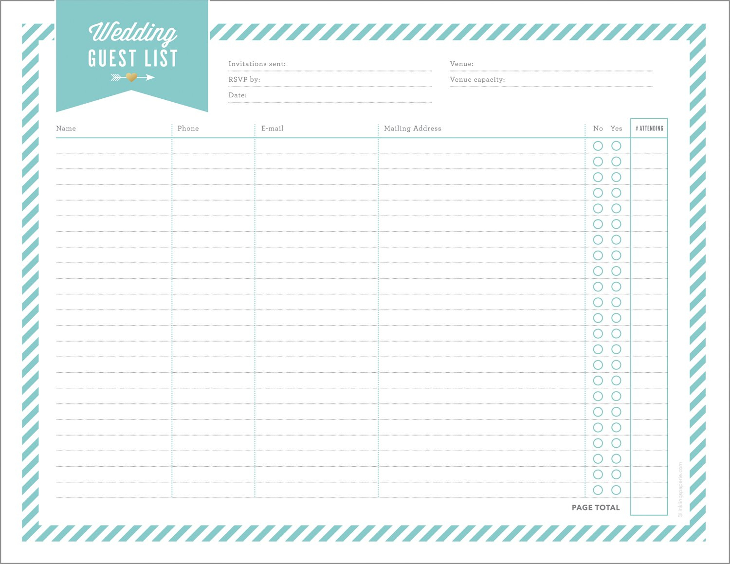 Free Wedding Planning Printables  Checklists And Wedding Planning Worksheets