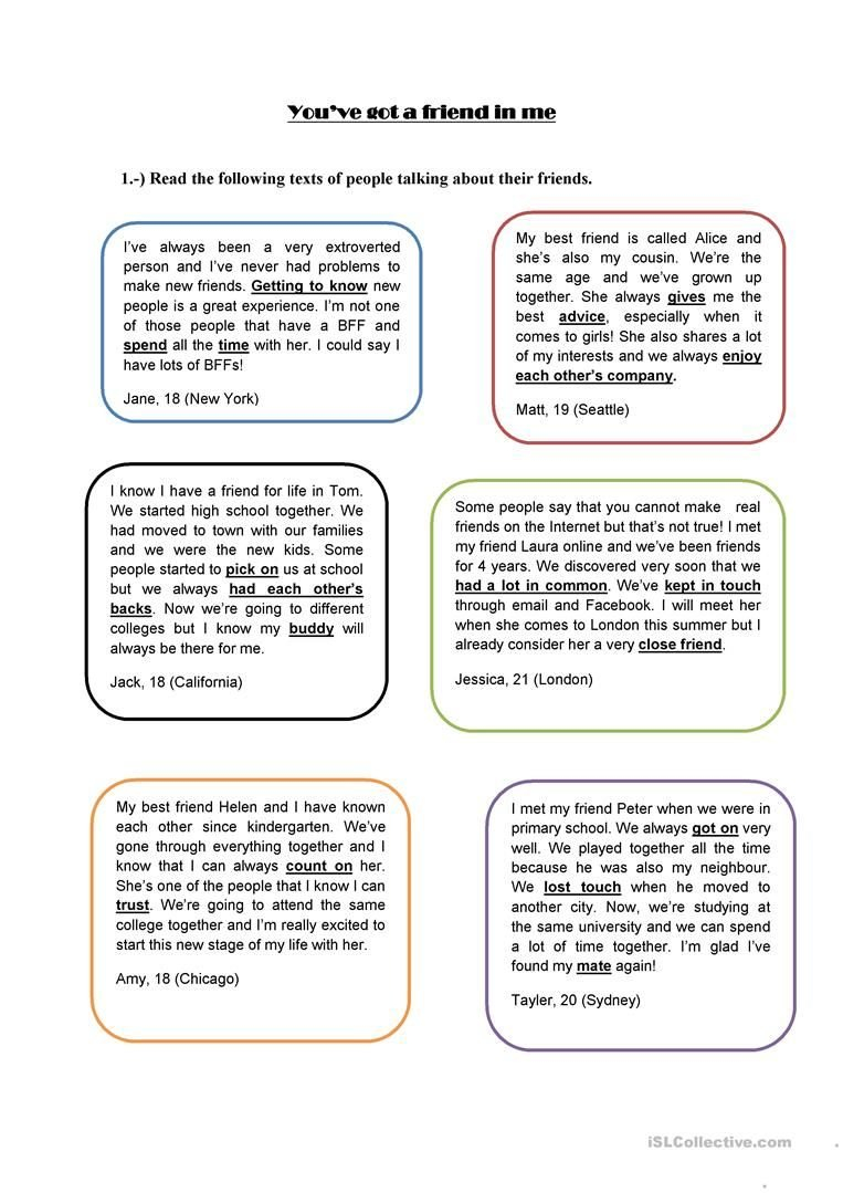 Friendship Worksheets For Middle School  Briefencounters With Friendship Worksheets For Middle School