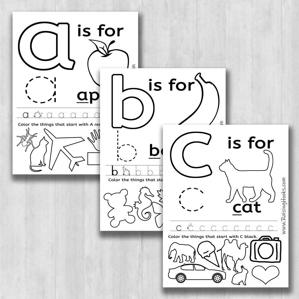 Fun Alphabet Learning Worksheets  Raising Hooks As Well As Learning Letters Worksheets