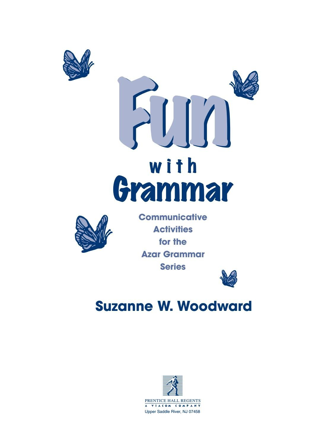 Fun With Grammar Communicative Activities For The Azar Grammar Inside Teacher039S Discovery Spanish Worksheets Answers