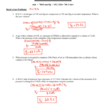 Gas Laws Worksheet Answer Key Along With Combined Gas Law Problems Worksheet Answers