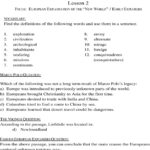 Ged Social Studies Worksheet Lesson 2  Pdf Together With Explorers Come To The New World Worksheet Answers