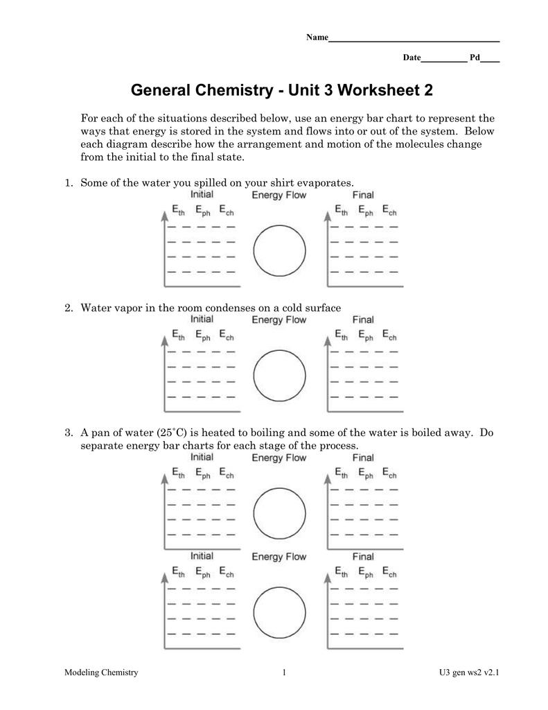 General Chemistry  Unit 3 Worksheet 2 Together With Unit 3 Worksheet 2 Chemistry Answers