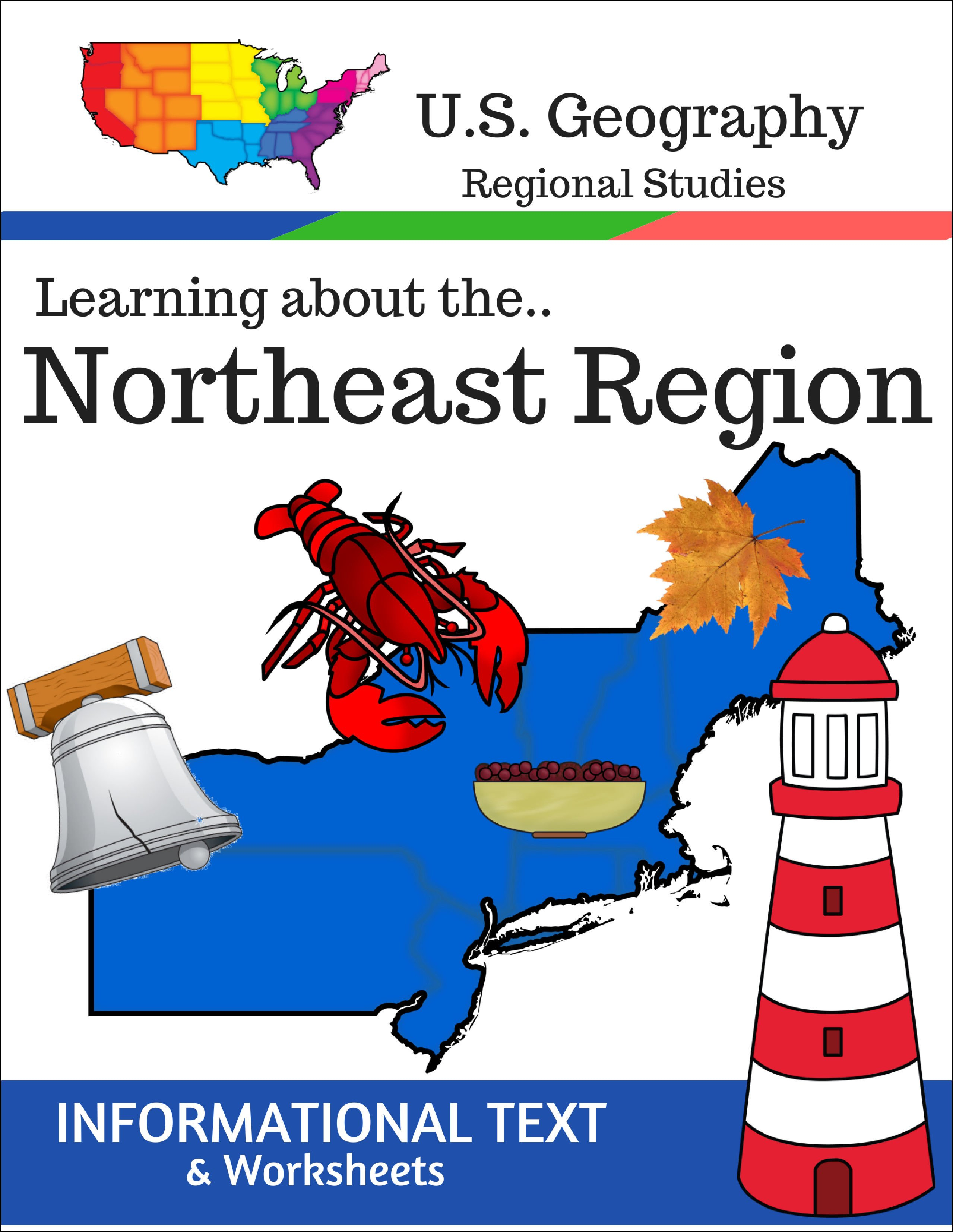 Geography – Regions Of The Us – Northeast Region – Informational Also Northeast Region Worksheets