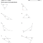 Geometry  Mrs Murk's Math Class Within 4 2 Practice Angles Of Triangles Worksheet Answers