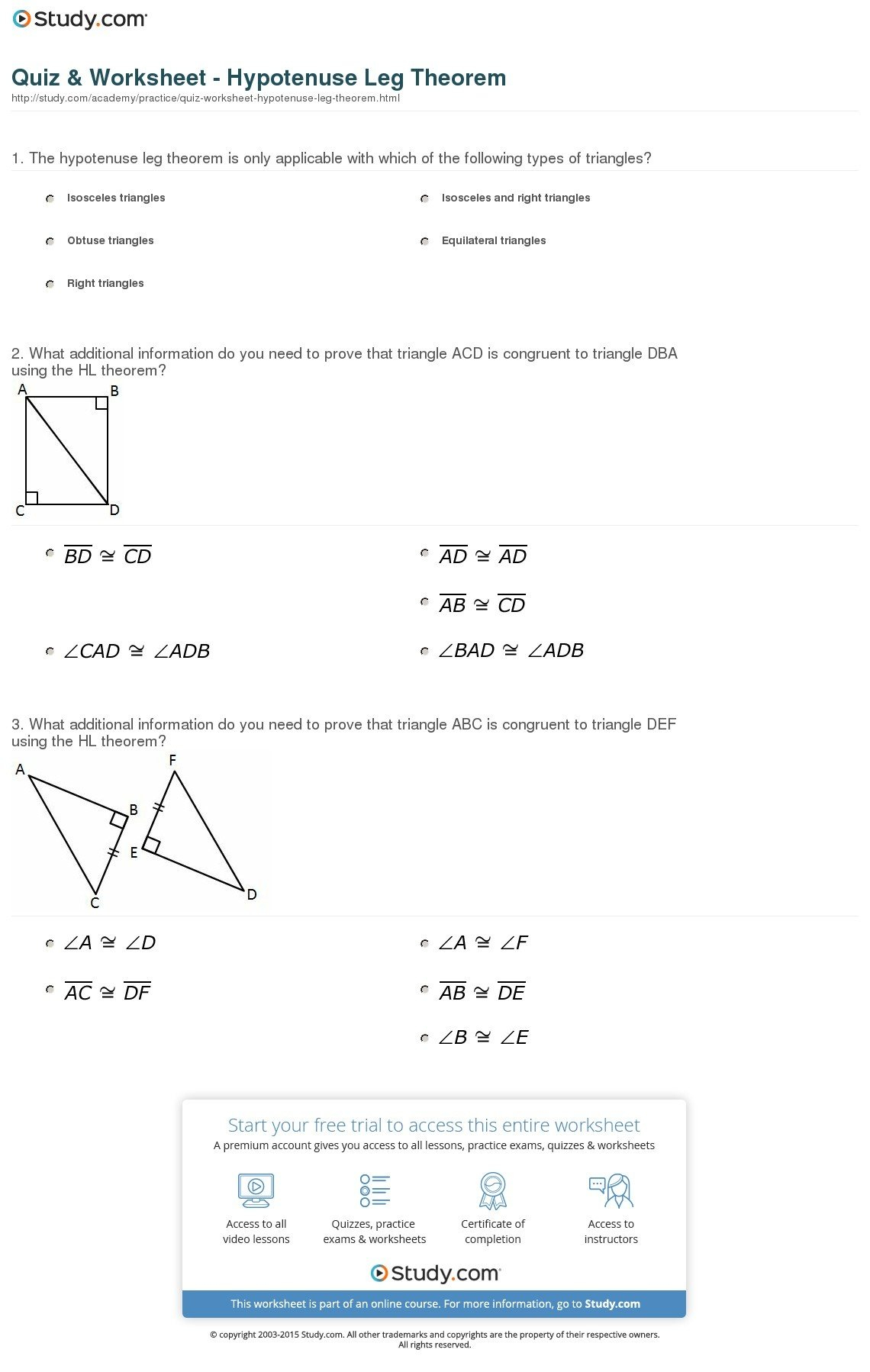 Geometry Worksheet Congruent Triangles Answers Proving Triangles With Triangle Proofs Worksheet Answers