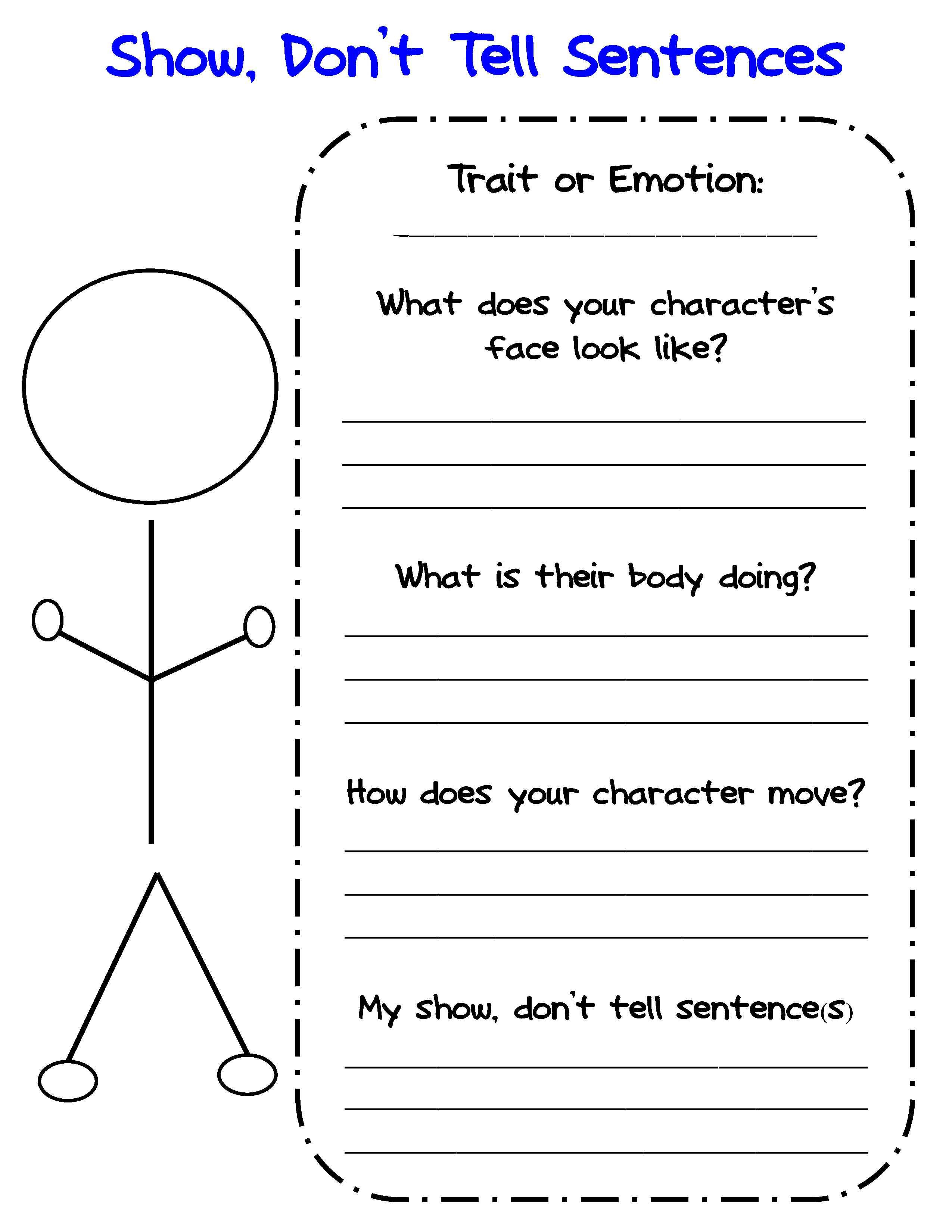 Graphic Organizers For Personal Narratives  Scholastic Regarding Free Character Education Worksheets