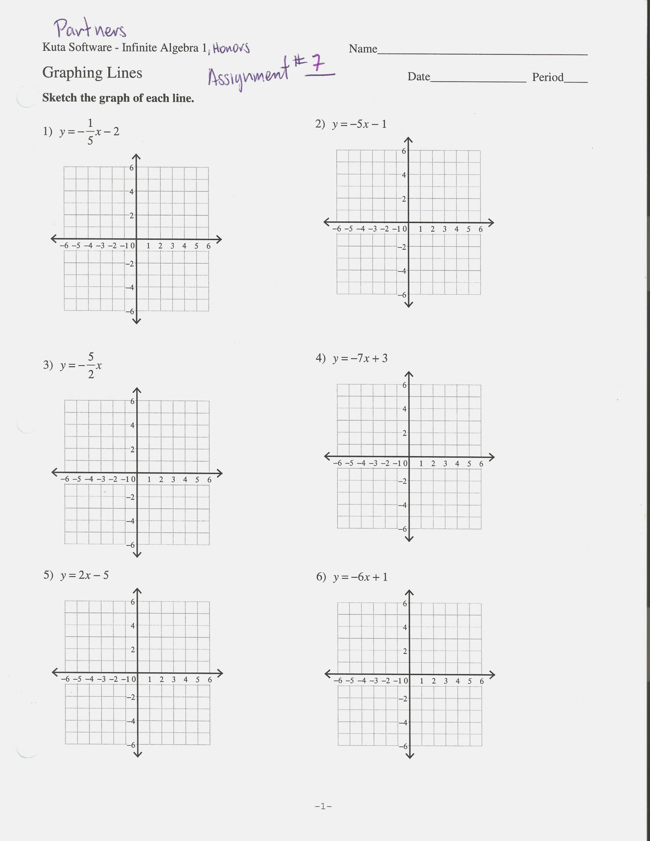 Graphing Equations In Slope Intercept Form Worksheet 133 13 Answers With Regard To Slope Intercept Form Worksheet With Answers