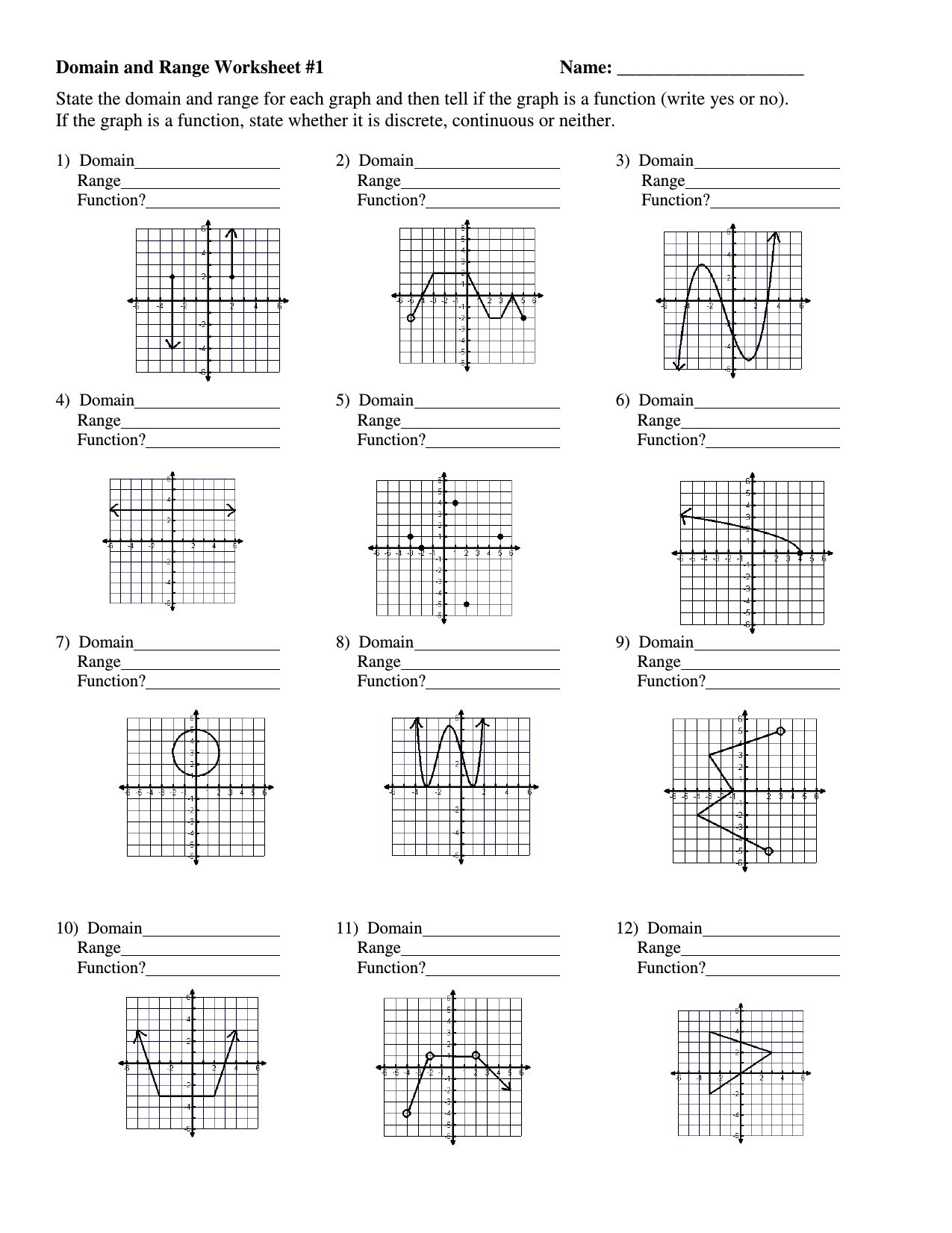 Graphing Rational Functions Worksheet 1 Horizontal Asymptotes Also Graphing Rational Functions Worksheet Answers