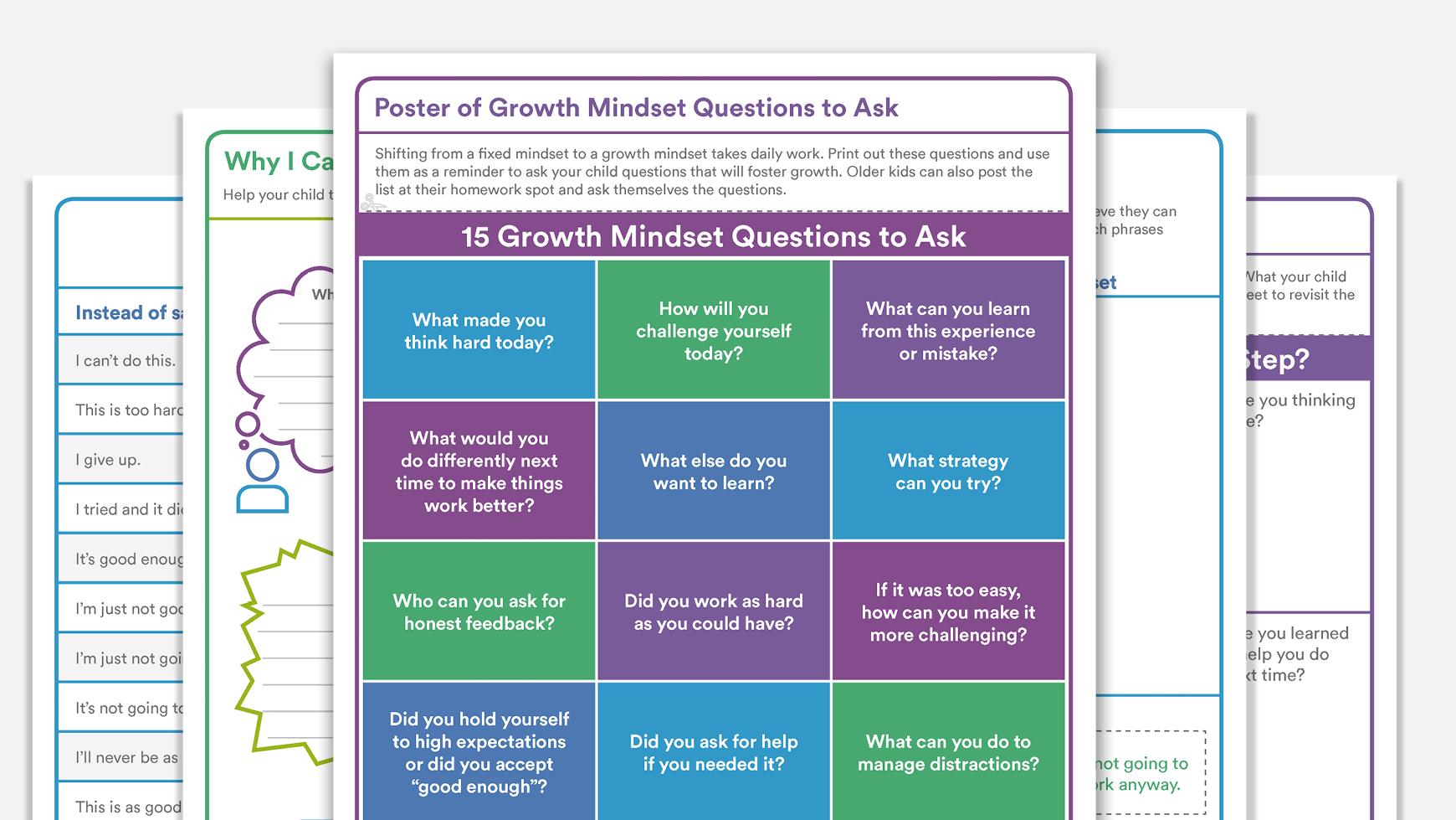 Growth Mindset Activities Regarding Growth Mindset Worksheet Pdf