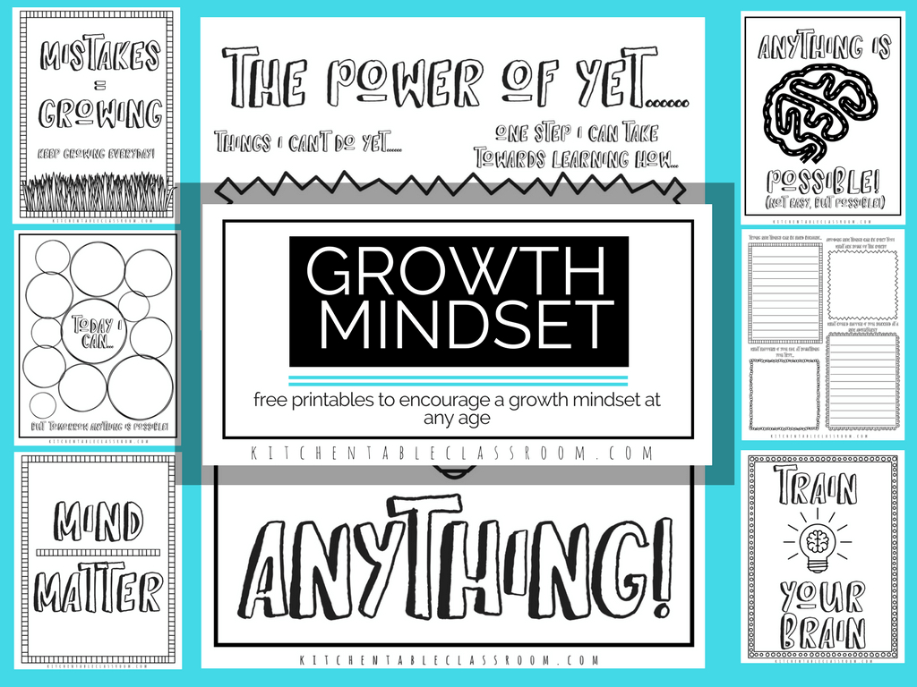 Growth Mindset Printables And Coloring Sheets For Kids  Homeschool Also Growth Mindset Worksheet Pdf