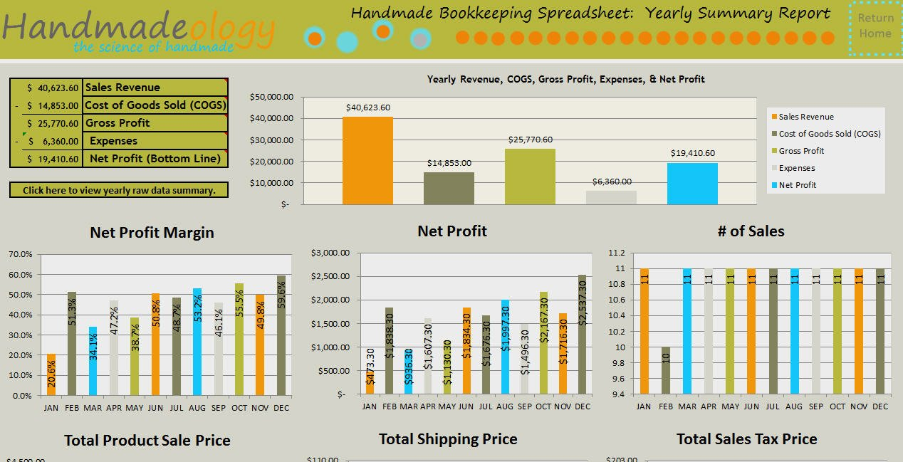 Handmade Bookkeeping Spreadsheet 2.0 : Number One Selling ... With Regard To Free Etsy Bookkeeping Spreadsheet