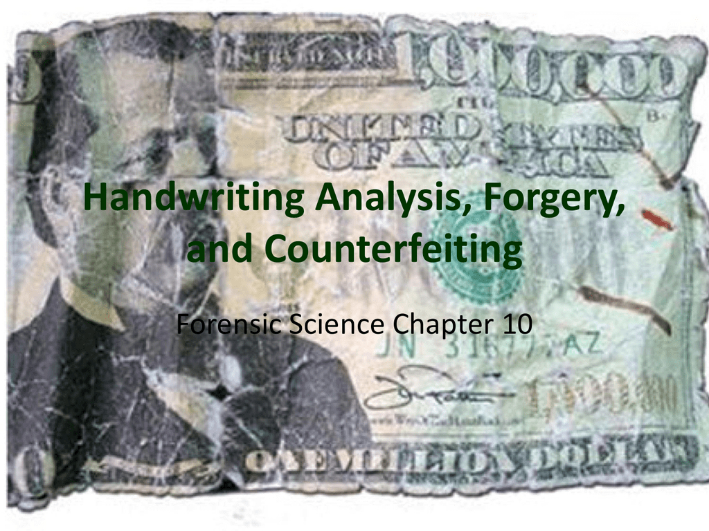 Handwriting Analysis Forgery And Counterfeiting As Well As Handwriting Analysis Forgery And Counterfeiting Worksheet