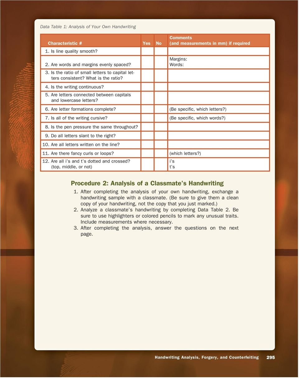 Handwriting Analysis Forgery And Counterfeiting  Pdf For Handwriting Analysis Forgery And Counterfeiting Worksheet