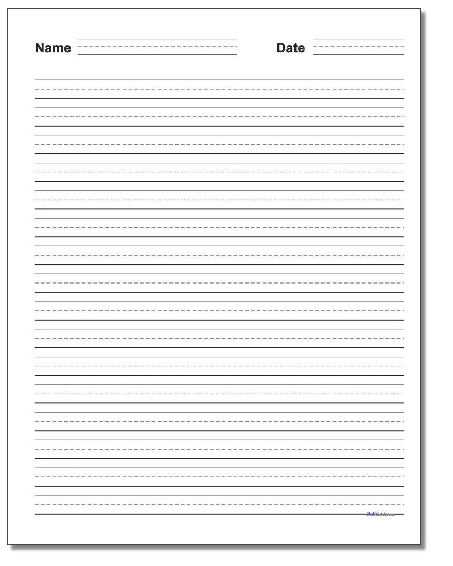 Handwriting Paper Along With 3Rd Grade Handwriting Worksheets Pdf