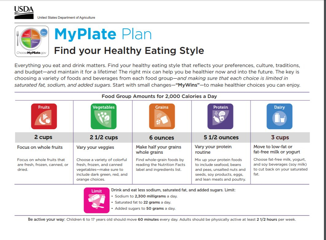 Health Professionals  Choose Myplate Pertaining To My Plate Gov Worksheet