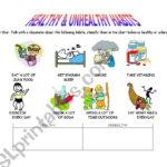 Healthy And Unhealthy Habits  Esl Worksheetevaramos And Healthy Habits Worksheets