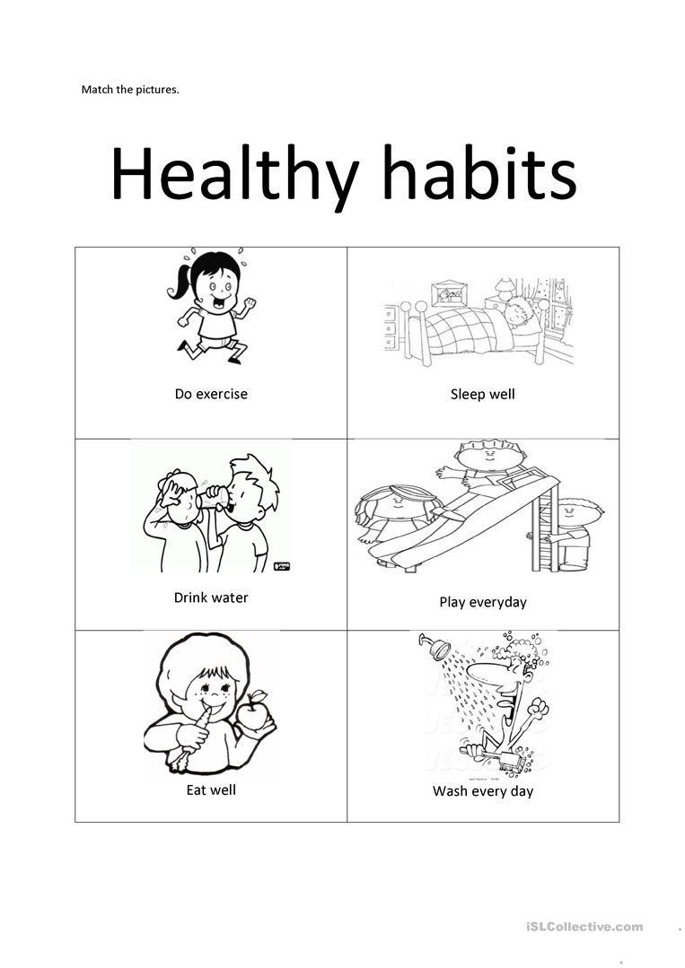 Healthy Habits Worksheet  Free Esl Printable Worksheets Made Throughout Healthy Habits Worksheets