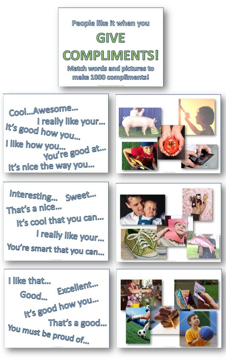 Helping Kids With Asd To Give Compliments Pictureword Downloads For Social Skills Worksheets For Autism