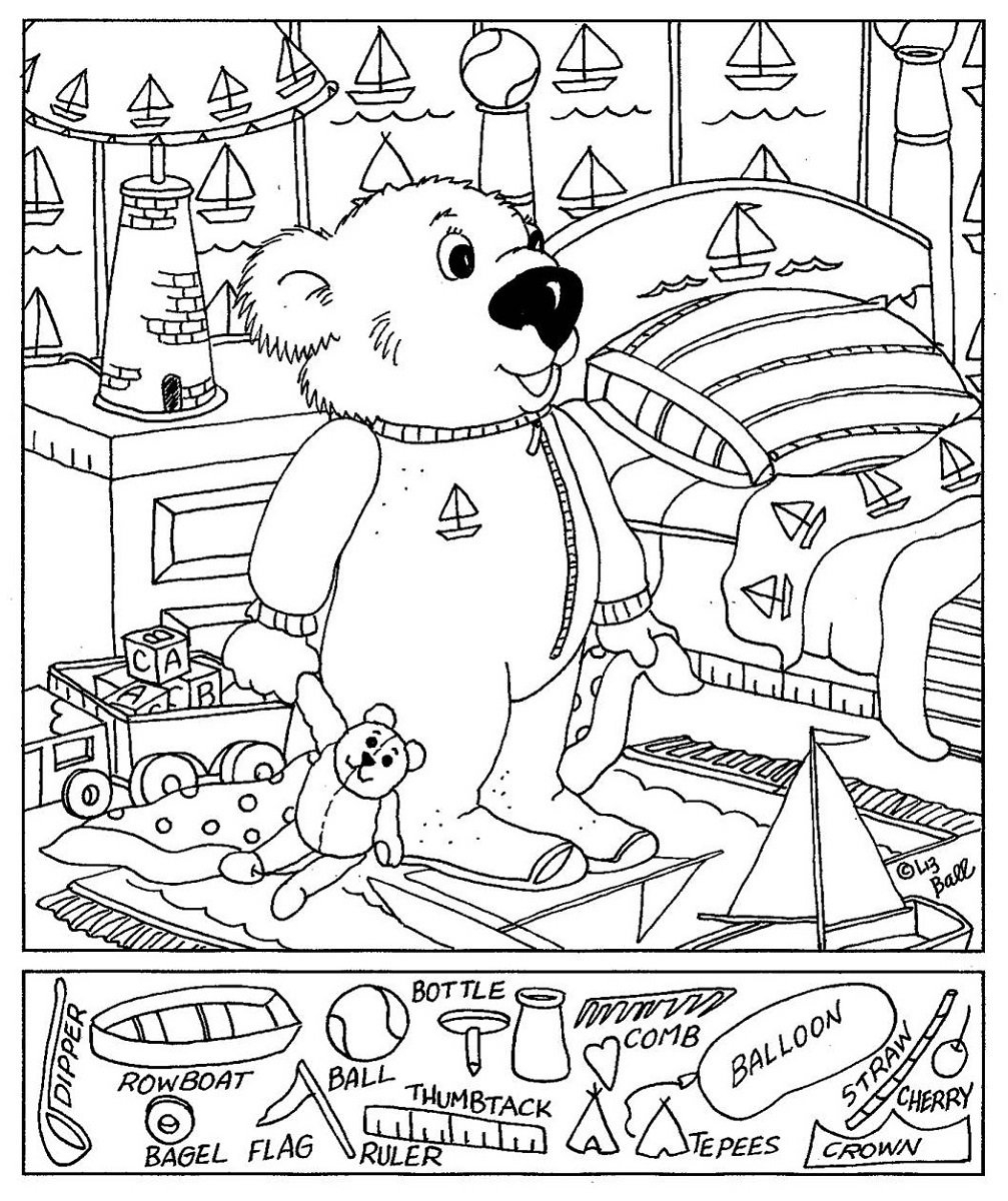 Hidden Pictures Worksheets  Activity Shelter Along With Hidden Objects Worksheets
