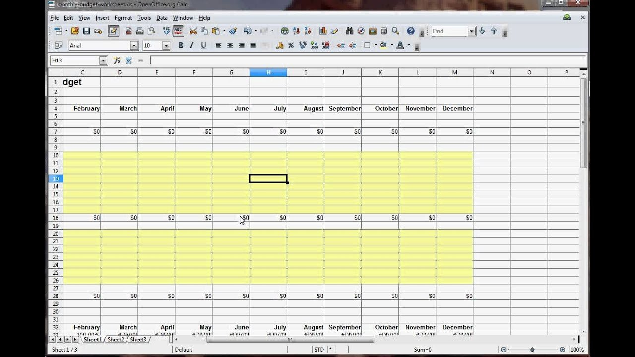How To Create A Budget Spreadsheet (With Pictures)   Wikihow Throughout How To Make A Good Budget Spreadsheet