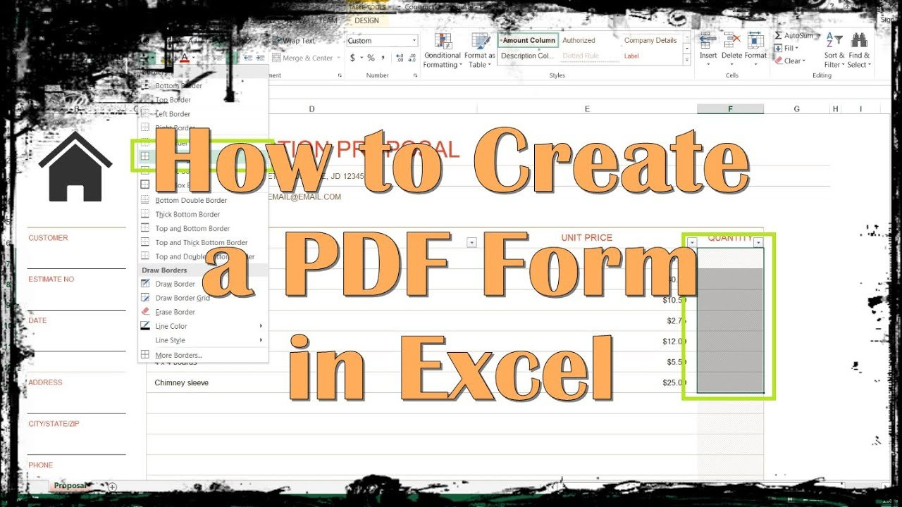 How To Create A Pdf Form In Excel   Youtube With Convert Excel Spreadsheet To Fillable Pdf Form