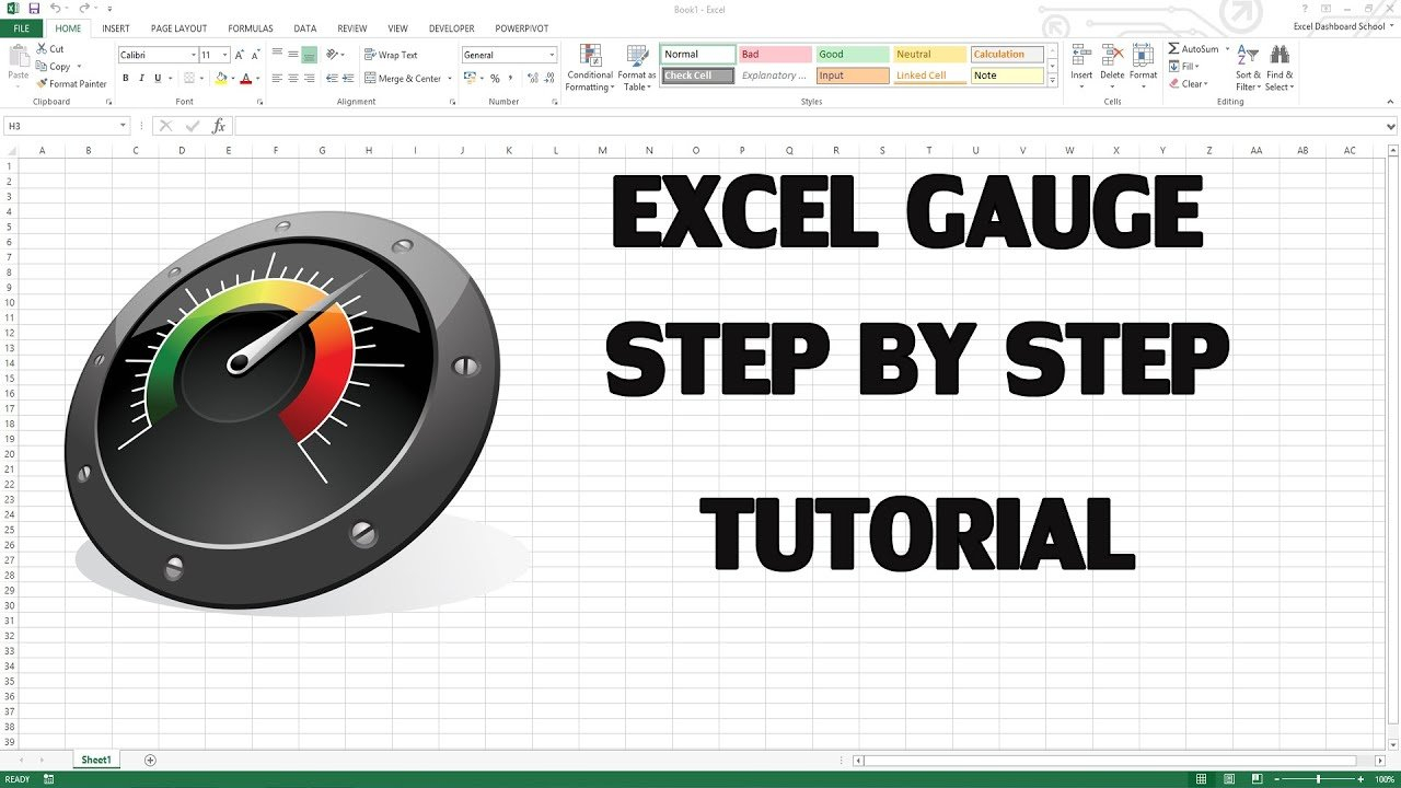 How To Create Excel Kpi Dashboard With Gauge Control   Youtube Along With Excel Kpi Gauge Template