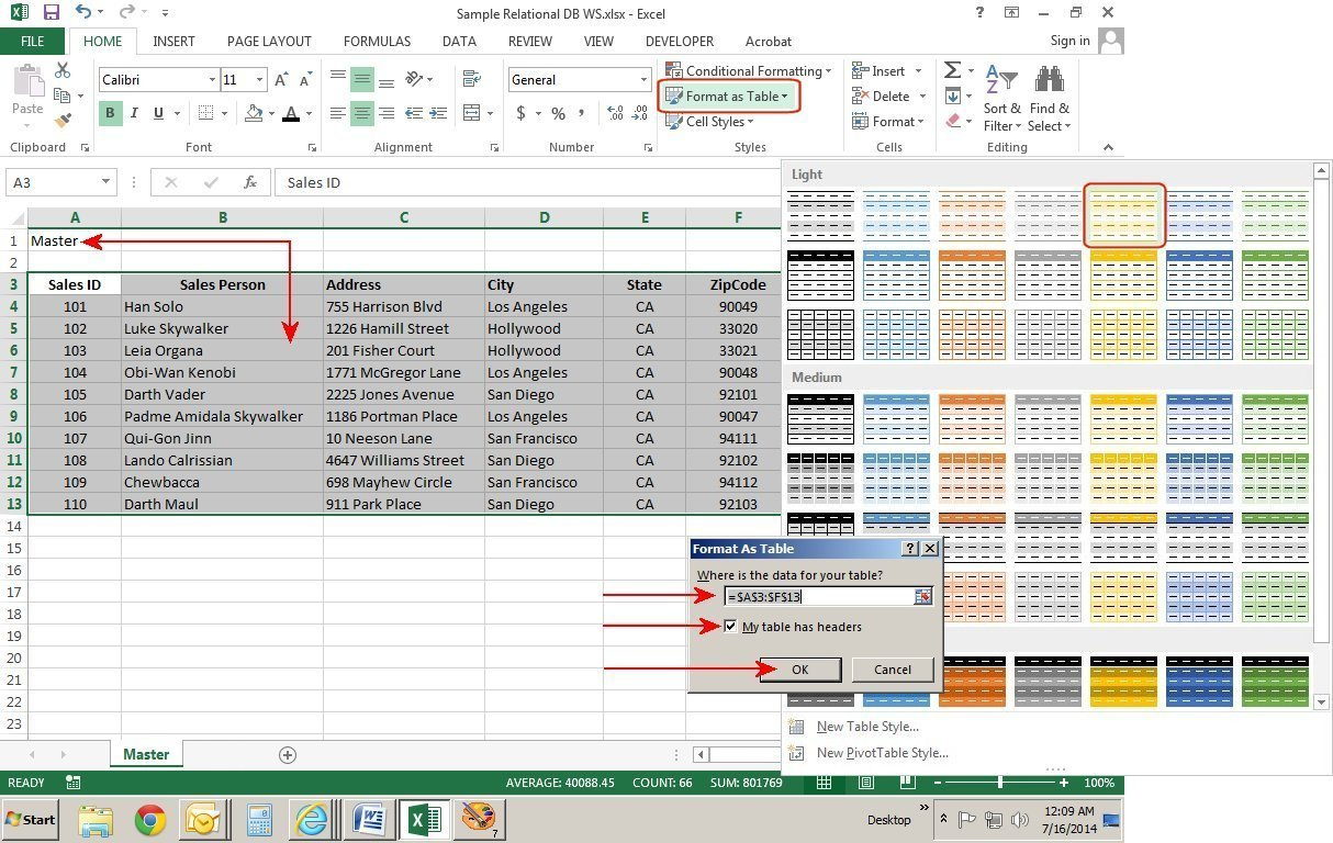 How To Create Relational Databases In Excel 2013 | Pcworld Together With Create Database From Spreadsheet