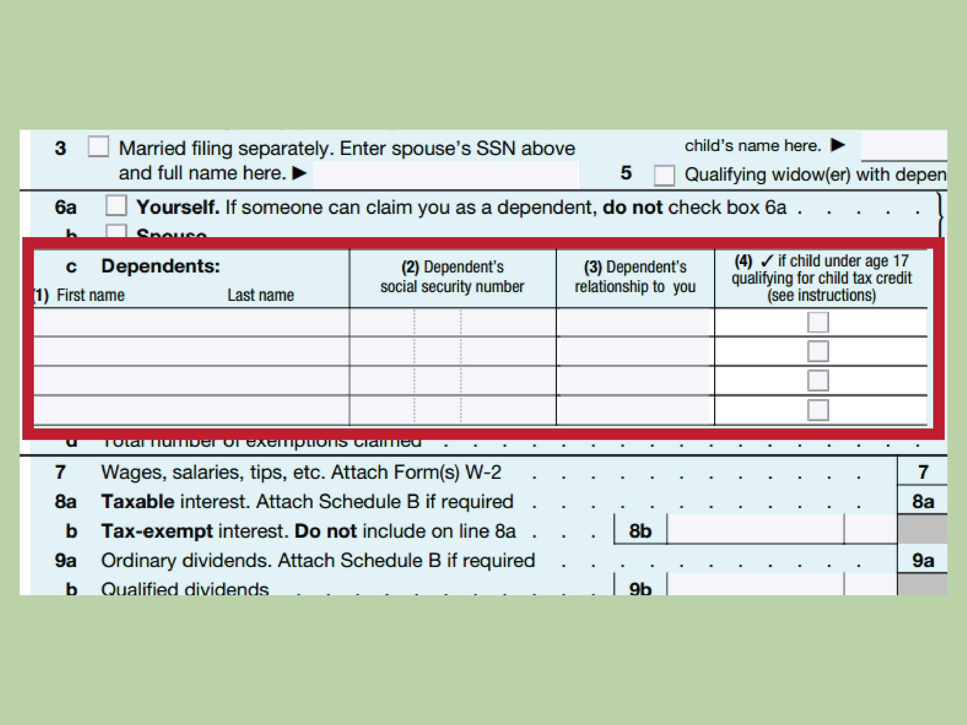 How To Fill Out A Us 1040X Tax Return With Form  Wikihow Within 2017 Estimated Tax Worksheet