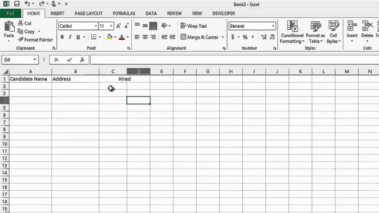 How To Track The Recruiting Process In Microsoft Excel : Ms Word ... Within Document Tracking System Excel