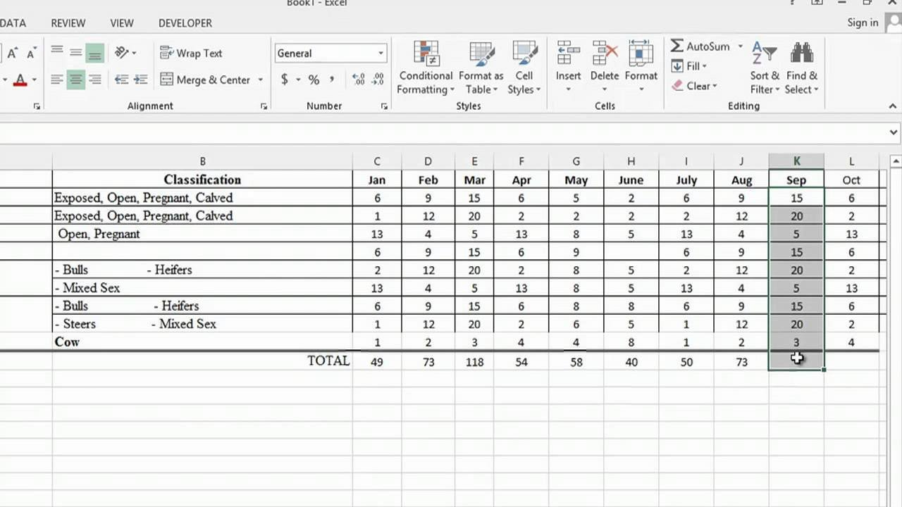 How To Use Microsoft Excel To Track Cattle Ranching : Ms Word ... For Cattle Spreadsheets For Records