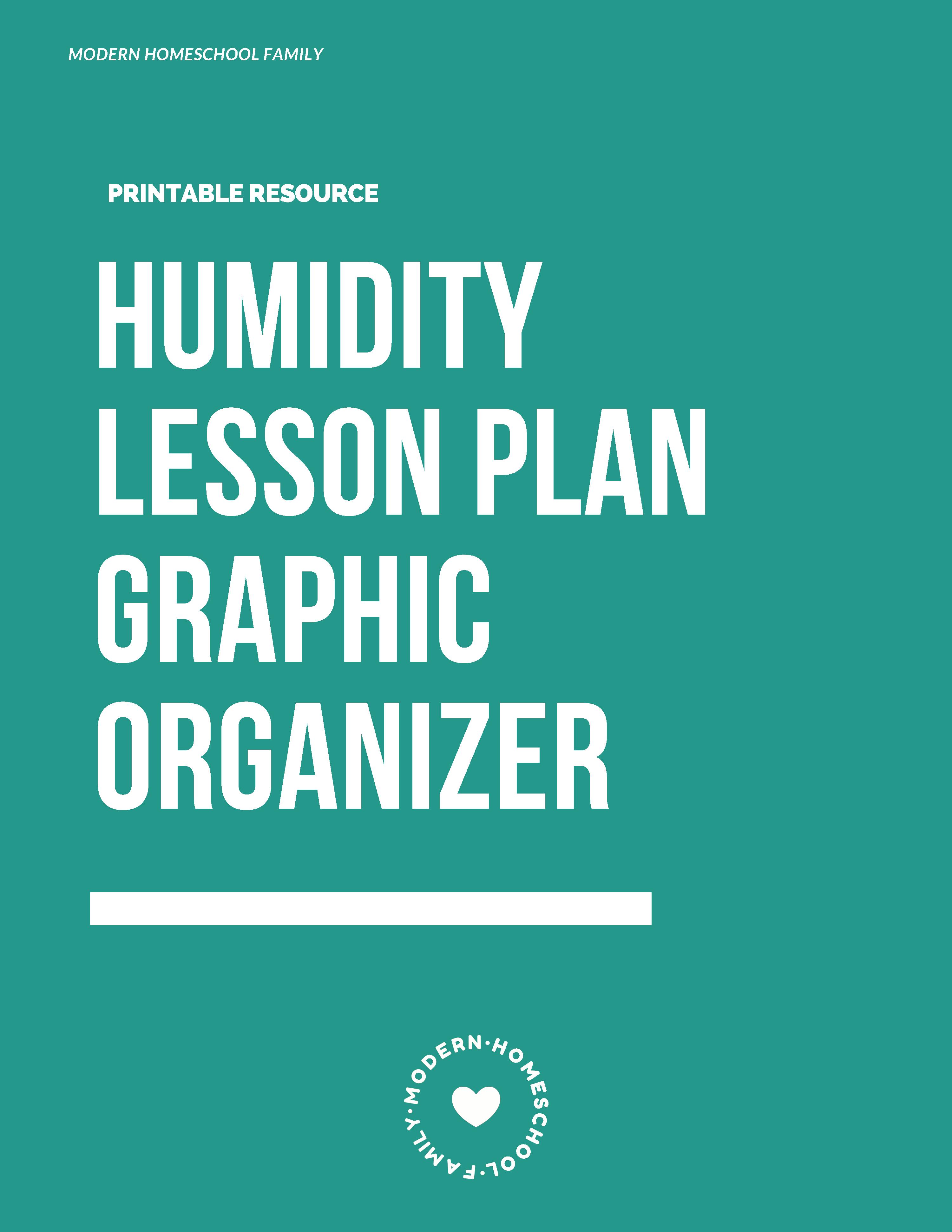 Humidity Lesson Plan Printable Worksheet  Modern Homeschool Family Also Free Homeschool Printable Worksheets