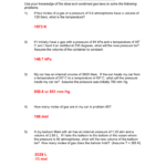 Ideal Gas Law Worksheet Pv  Nrt Regarding Combined Gas Law Problems Worksheet Answers